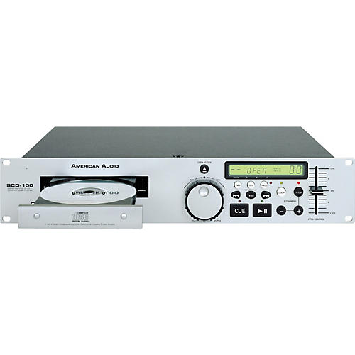 American Audio SCD-100 Rackmount Single Tray CD Player