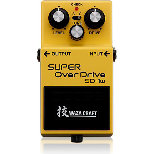 Boss SD-1W Super Overdrive Waza Craft Guitar Effects Pedal