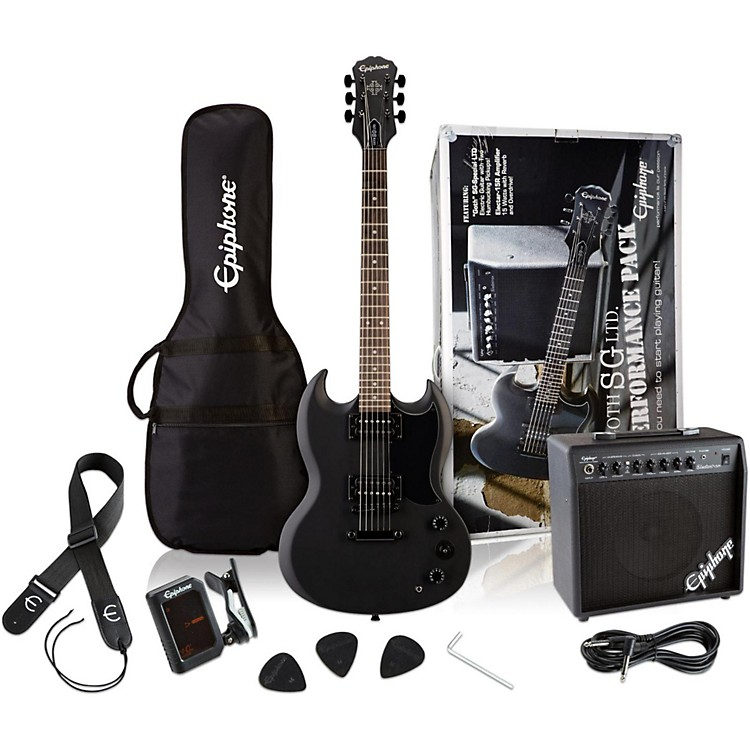 Epiphone SG Electric Guitar Performance Pack Pitch Black