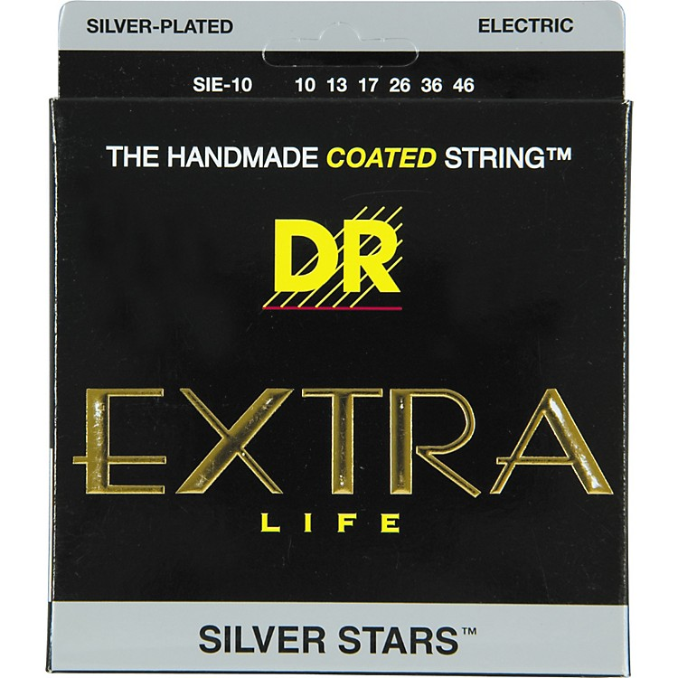 DR Strings SIE-10 Silver Stars Coated Medium Electric Guitar Strings