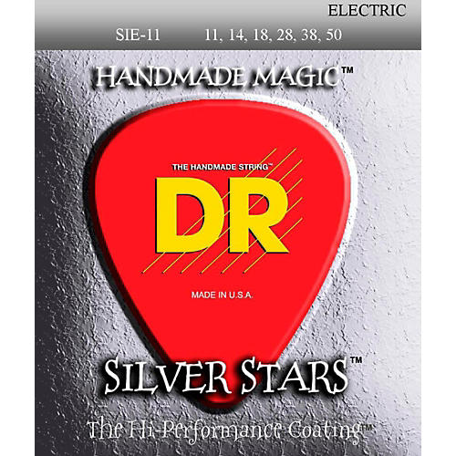 DR Strings SIE-11 Silver Stars Coated Medium-Lite Electric Guitar Strings