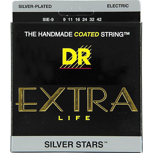 DR Strings SIE-9 Silver Stars Coated Electric Guitar Strings
