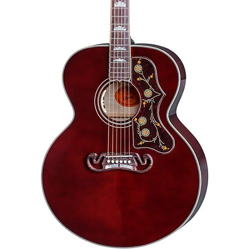Gibson SJ-200 Wine Red Acoustic-Electric Guitar-thumbnail