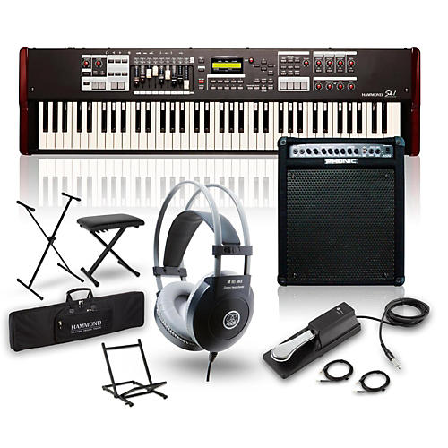 Hammond SK1-73 73-Key Digital Stage Keyboard and Organ with Keyboard Amp, Stand, Headphones, Bench & Sustain Pedal-thumbnail