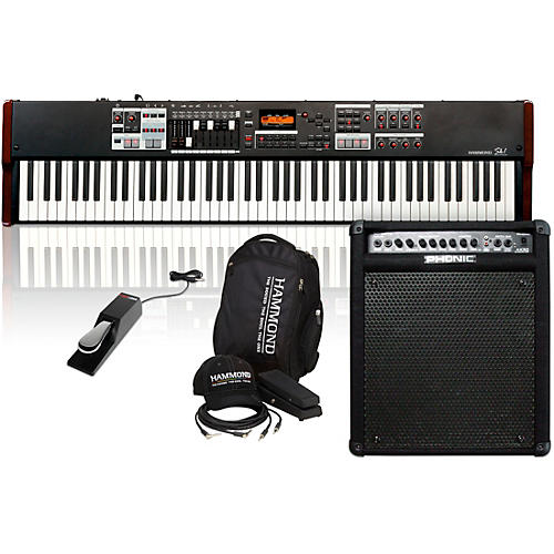 Hammond SK1-88 88-Key Digital Stage Keyboard and Organ with Keyboard Accessory Pack, MK50 Keyboard Amplifier, and Sustain Pedal-thumbnail