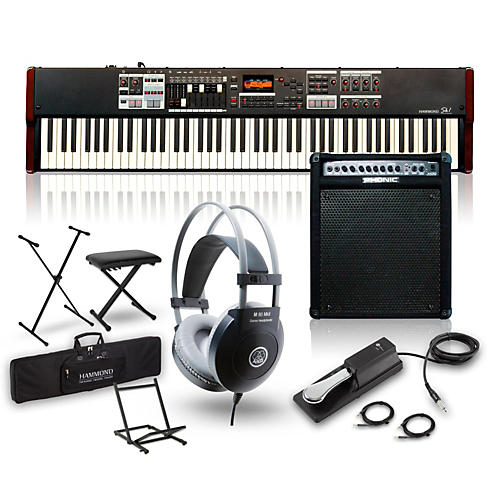 Hammond SK1-88 88-Key Digital Stage Keyboard and Organ with Keyboard Amp, Stand, Headphones, Bench & Sustain Pedal-thumbnail
