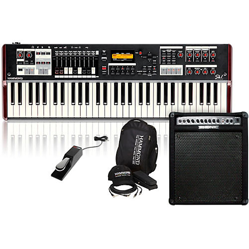 Hammond SK1 Stage Keyboard with Accessory Pack, Keyboard Amplifier, and Sustain Pedal-thumbnail
