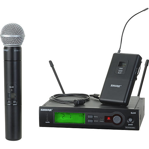Shure SLX124/85/SM58 Dual System Band G4
