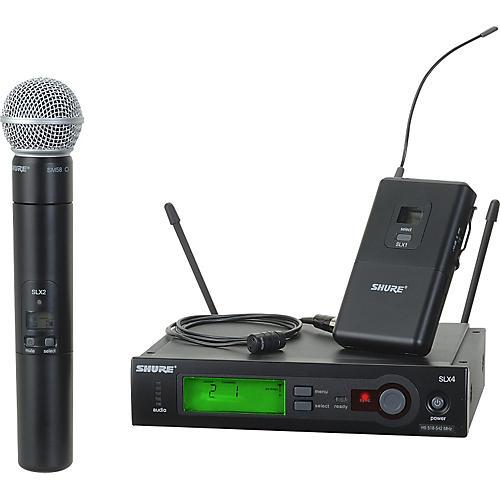 Shure SLX124/85/SM58 Dual System