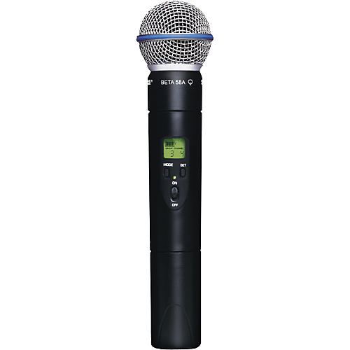 shure slx2 beta58 wireless handheld transmitter microphone musician 39 s friend. Black Bedroom Furniture Sets. Home Design Ideas