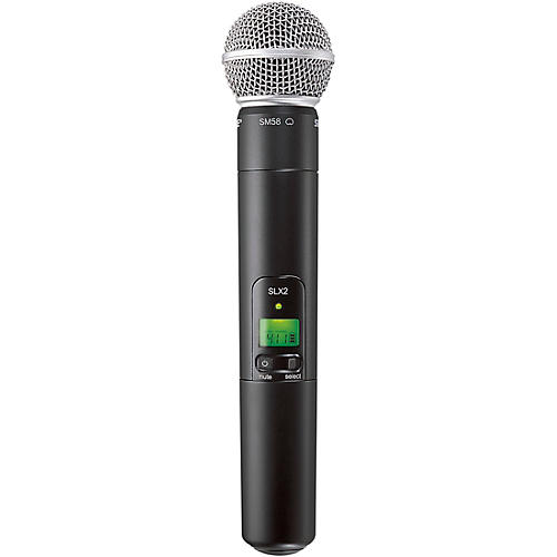 Shure SLX2/SM58 Wireless Handheld Microphone Band G4