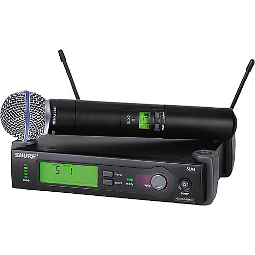 Shure SLX24/BETA58 Wireless Handheld Microphone System Band G5