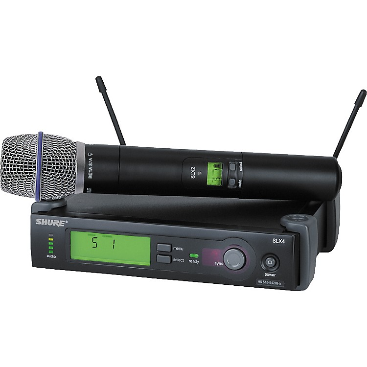 Shure SLX24/BETA87A Handheld Wireless Condenser Microphone System