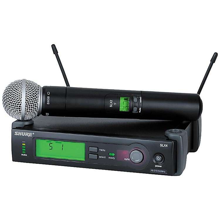 Shure SLX24/SM58 Wireless Microphone System CH H5