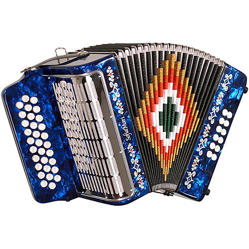 SofiaMari SM-3112 31-Button 12 Bass Accordion GCF Dark Blue Pearl