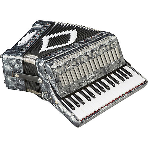 SofiaMari SM-3232 32 Piano 32 Bass Accordion Gray Pearl