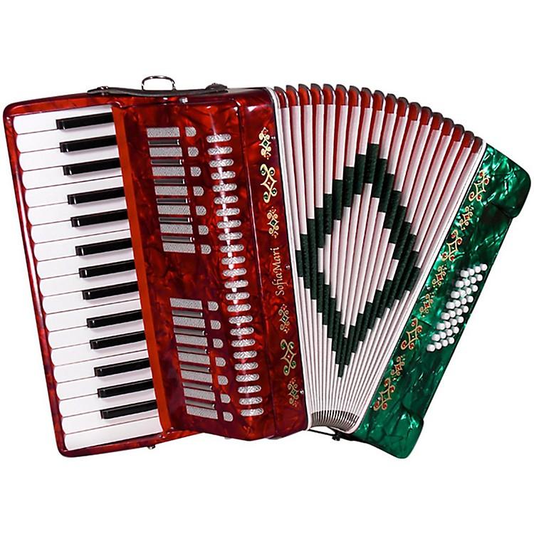 SofiaMariSM-3232 32 Piano 32 Bass AccordionRed Pearl