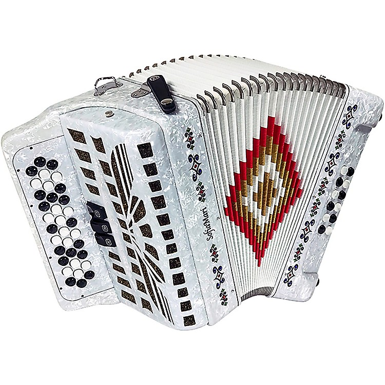 SofiaMari SM-3412 34-Button 12-Bass Accordion GCF White Pearl