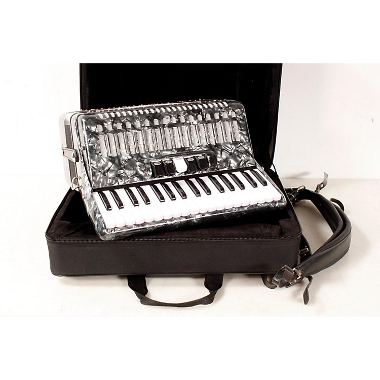 SofiaMari SM-3448 34 Piano 48-Bass Accordion Gray Pearl