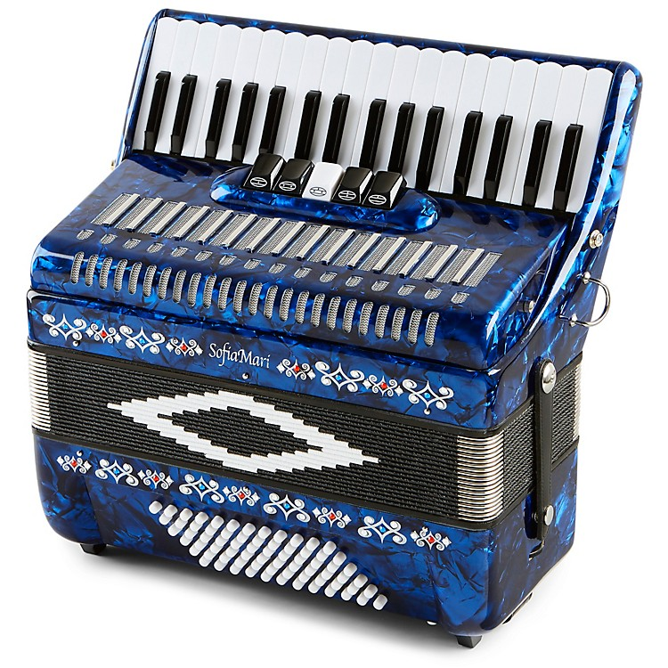 SofiaMariSM 3472 34 Piano 72 Bass Button AccordionDark Blue Pearl