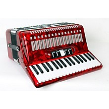 SofiaMari SM 3472 34 Piano 72 Bass Button Accordion Level 2 Red Pearl 888365779003