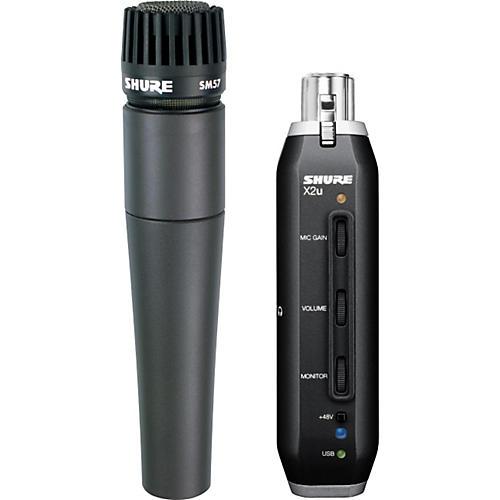 Shure SM57-X2U SM57 MIC WITH XLR-TO-USB PACKAGE-thumbnail