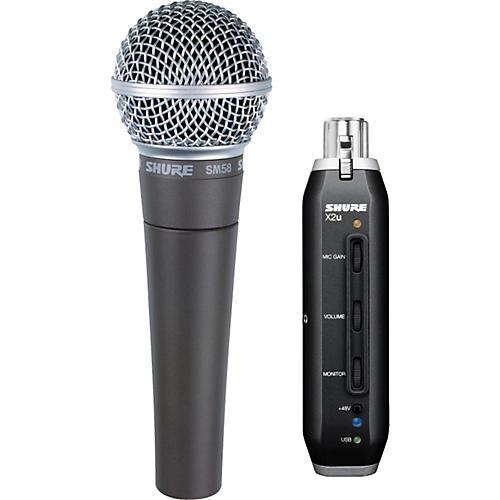 Shure SM58 Mic with X2u XLR-to-USB Adapter Bundle-thumbnail