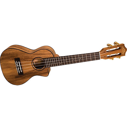 Lanikai SMP-CCA Solid Monkey Pod Concert Cutaway Acoustic-Electric Ukulele Natural
