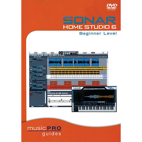 Hal Leonard SONAR Home Studio 6 Beginner Level (Music Pro Guides) Music Pro Guide Books & DVDs Series DVD by Various-thumbnail