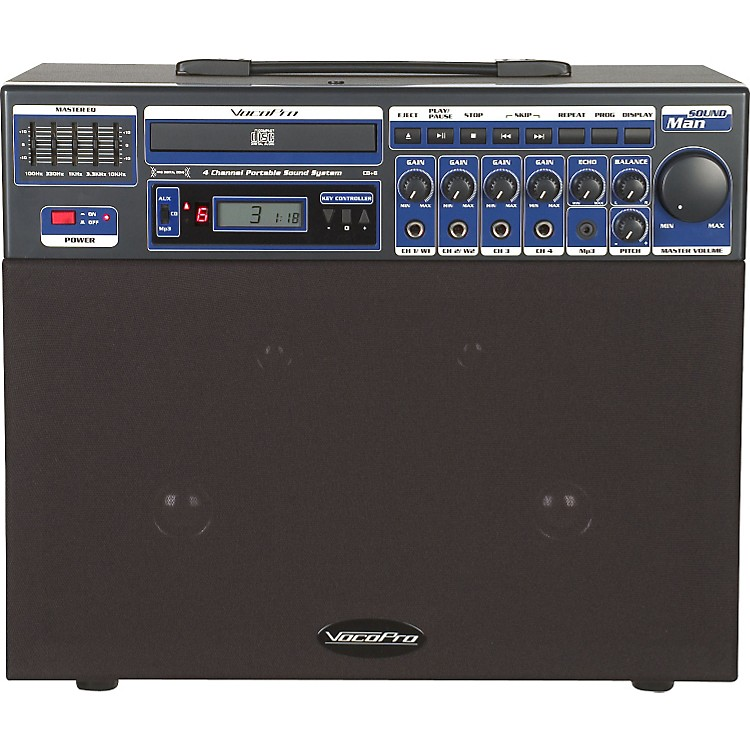 VocoPro SOUNDMAN Portable 4-Channel System