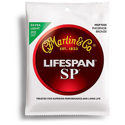 Martin SP 7000 Phosphor Bronze Lifespan Coated Acoustic Guitar Strings Extra Light