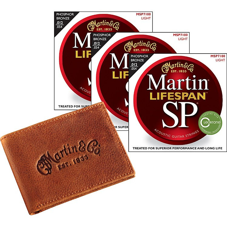 MartinSP 7100 Lifespan Light 3-pack with Martin Leather Wallet