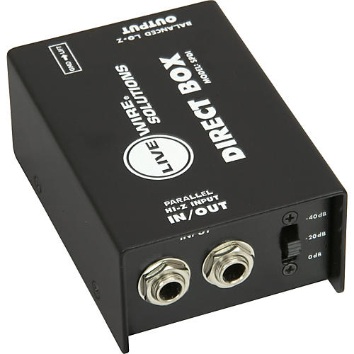 Live Wire SPDI Passive Direct Box with Attenuation Pad