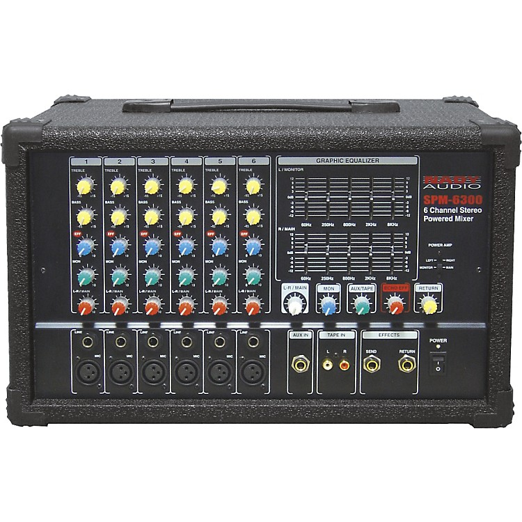 NadySPM-6300 6-Channel Powered Mixer with DSP