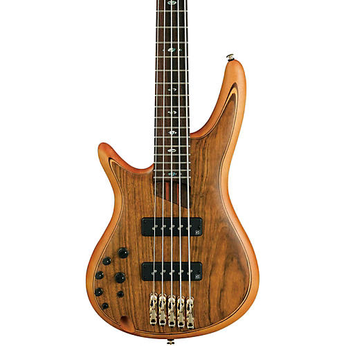 Ibanez SR1205E Left-Handed Premium 5-String Electric Bass Natural Flat finish Rosewood fretboard