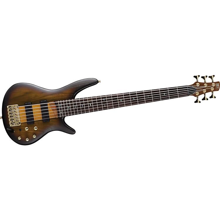 IbanezSR756 6-String Electric BassBrown Sunburst Flat