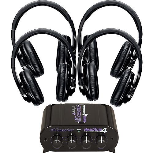 Shure SRH240 Four Pack w/ HeadAMP 4 Headphone Amp