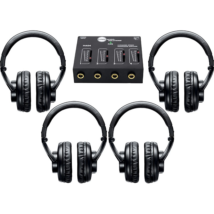 Shure SRH440 Four Pack with HA04 Headphone Amp