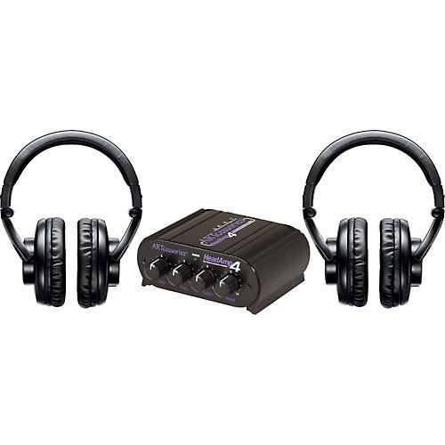 Shure SRH440 Two Pack w/ HeadAMP 4 Headphone Amp