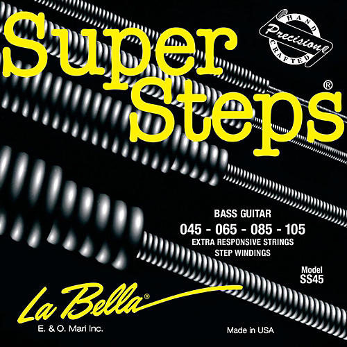 LaBella SS45 Super Steps Standard Electric Bass Strings-thumbnail