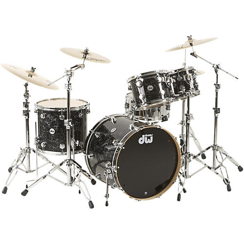 DW SSC Collector's Series 4-Piece Shell Pack Black Velvet Chrome Hardware