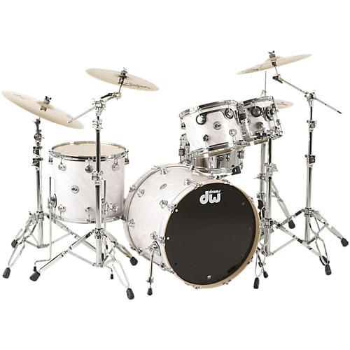 DW SSC Collector's Series 4-Piece Shell Pack White Twisted Satin Chrome Hardware