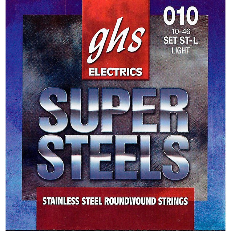 GHS ST-L Super Steels Roundwound Light Electric Guitar Strings