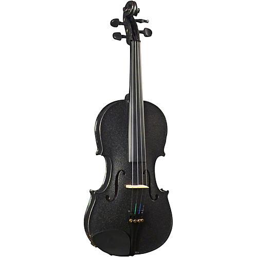 Cremona SV-130BK Series Sparkling Black Violin Outfit 4/4 Size