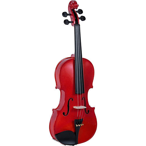 Cremona SV-130BK Series Sparkling Red Violin Outfit 4/4 Size