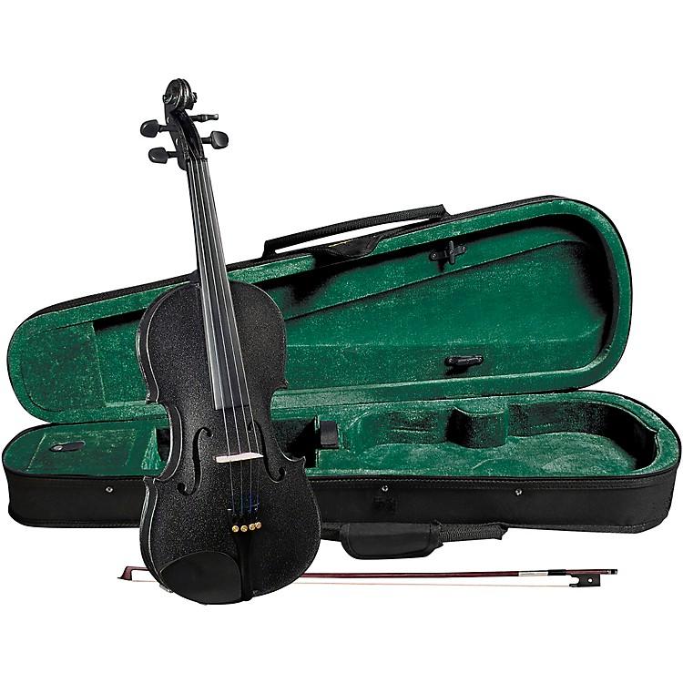 CremonaSV-75BK Premier Novice Series Sparkling Black Violin Outfit1/2 Outfit