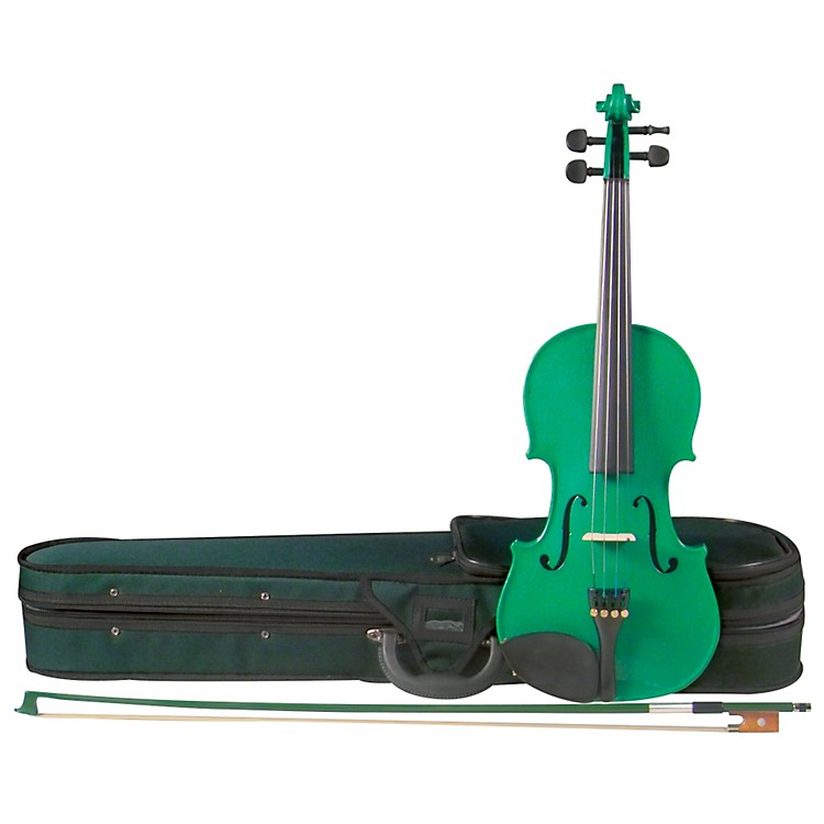 Cremona SV-75GN Premier Novice Series Sparkling Green Violin Outfit 1/2 Outfit