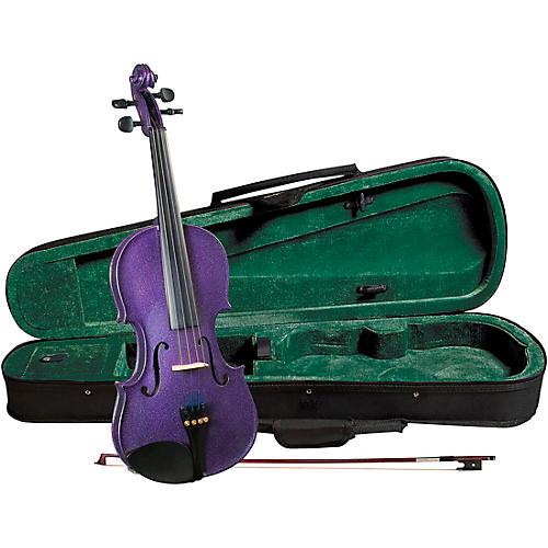 Cremona SV-75PP Premier Novice Series Sparkling Purple Violin Outfit 4/4 Outfit