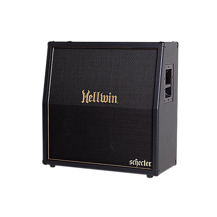 Schecter Guitar Research SYN412-SL Hellwin USA 4x12 Slant Guitar Speaker Cabinet Black