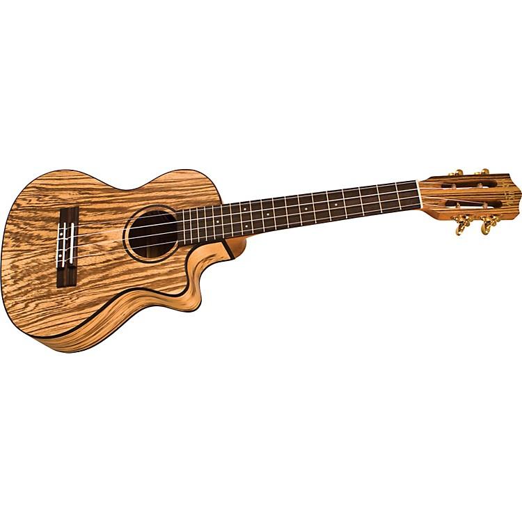 LanikaiSZW-TCA Cutaway Zebrawood Tenor Acoustic-Electric Ukulele